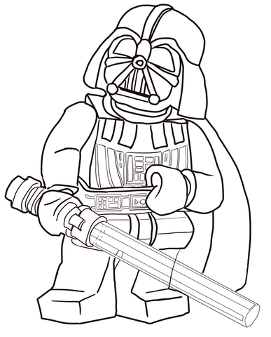 Lego Star Wars Darth Vader Coloring Page Free Printable Coloring Pages