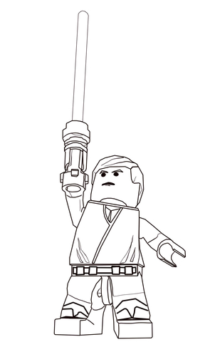 Lego Princess Leia coloring page - Free Printable Coloring Pages