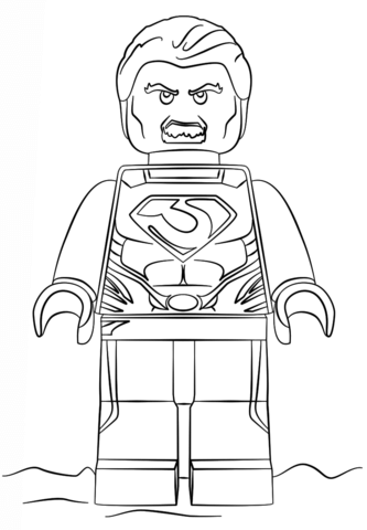 Lego Superman coloring page - Free Printable Coloring Pages