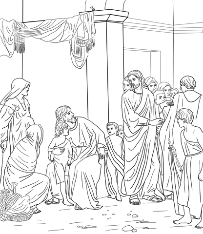 Jesus Heals Blind Man coloring page - Free Printable Coloring Pages