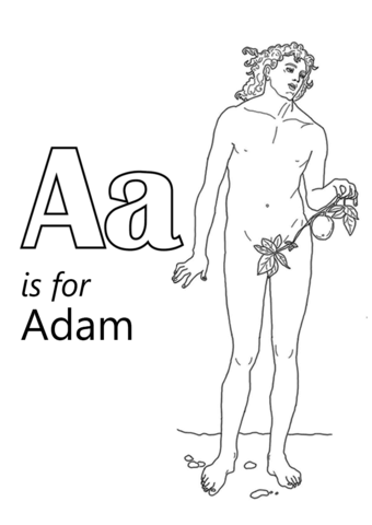 Letter A is for Adame coloring page