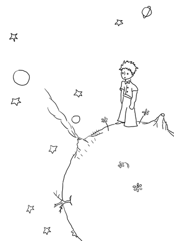 Little Prince Manuscripts coloring page