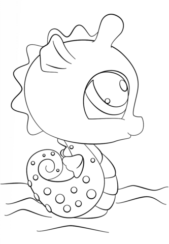 Littlest Pet Shop Seahorse Coloring Page Free Printable Coloring Pages