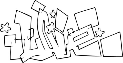 Live Graffiti coloring page - Free Printable Coloring Pages