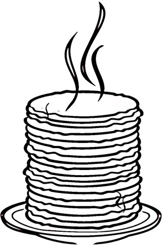 Loads of Pancakes  coloring page