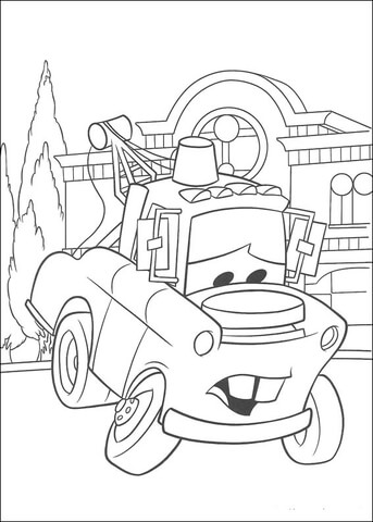 Mater Looks Sad  coloring page