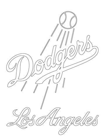 Los Angeles Dodgers Logo Coloring Page