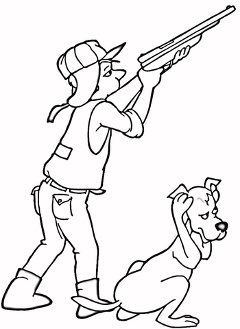 Loud Shot  coloring page