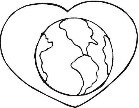 love earth coloring page