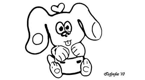 Love Puppy coloring page