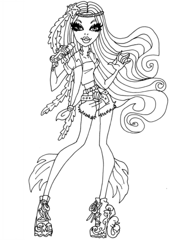 Monster High Catty Noir Coloring Page Free Printable Coloring Pages