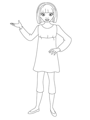 Makena is Waiting For You coloring page