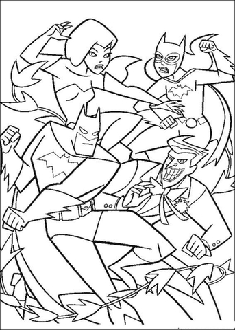 Batman Fight coloring page