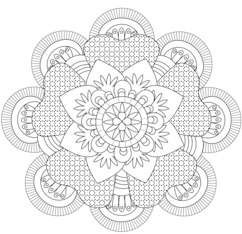 Mandala by Michelle Grewe coloring page