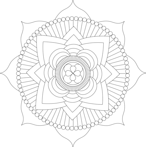 Lotus Mandala by Michelle Grewe coloring page
