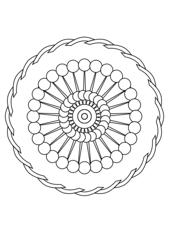 Mandala Ornament coloring page