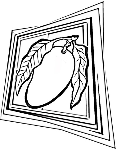 Mango  coloring page