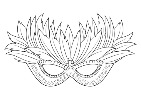 hex sign with decorative bird coloring page venetian mardi gras mask coloring page