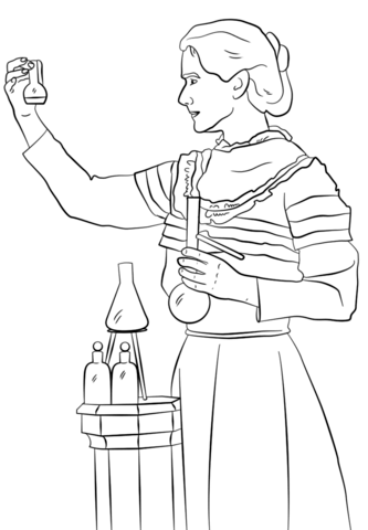 Marie Curie coloring page