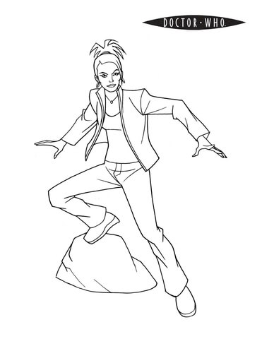 Martha Jones from Doctor Who coloring page