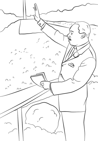 Martin Luther King I Have a Dream coloring page