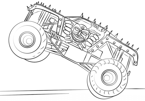 Max D Monster Truck Coloring Page