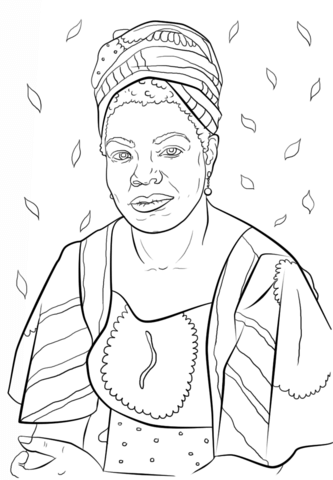 shel silverstein coloring page maya angelou coloring page