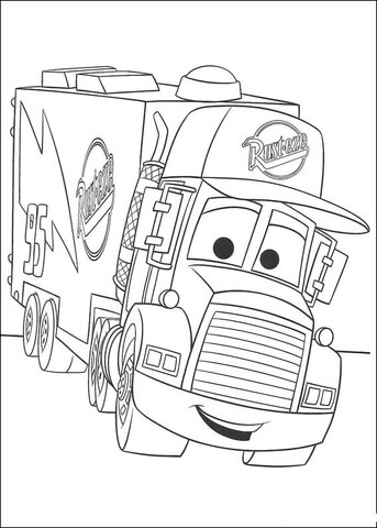 Mack trailer coloring page