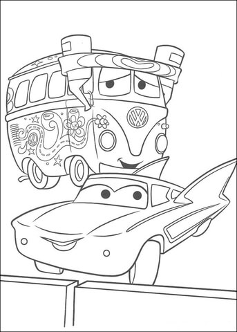 McQueen and Fillmore coloring page