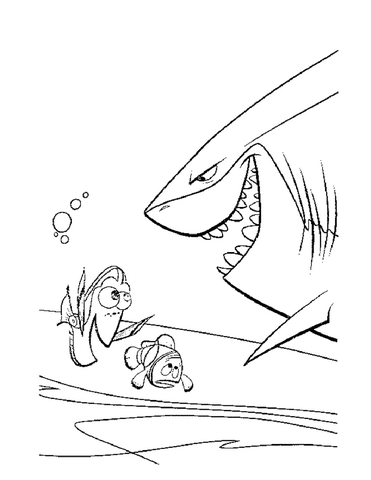 Meet The Shark Bruce coloring page