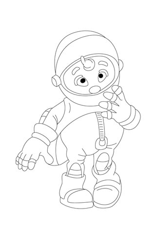 Messenger Mo has a Message! coloring page