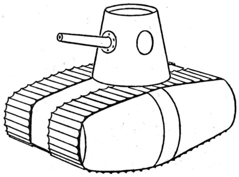 ww1 style tank coloring page