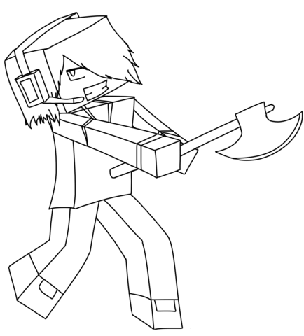 Kleurplaten Minecraft Enderman.Minecraft Deadlox Coloring Page Free Printable Coloring Pages