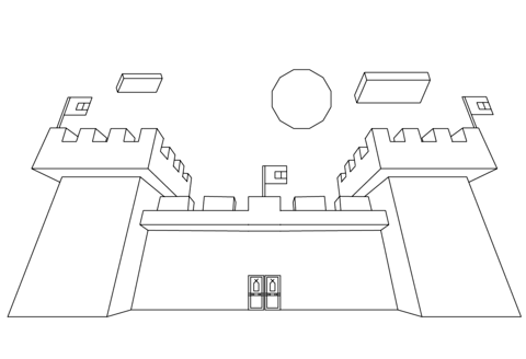 Minecraft Castle Coloring Page Free Printable Coloring Pages