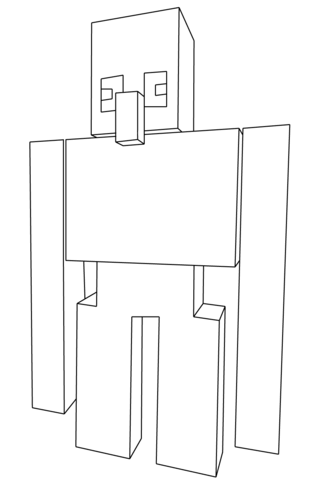 Kleurplaten Minecraft Wolf.Minecraft Wolf Coloring Page Free Printable Coloring Pages