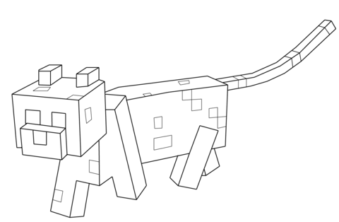 Kleurplaten Minecraft Wolf.Minecraft Deadlox Coloring Page Free Printable Coloring Pages
