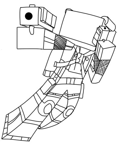 Minecraft Universe coloring page - Free Printable Coloring Pages