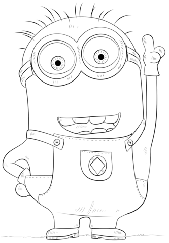 Minion Phil coloring page