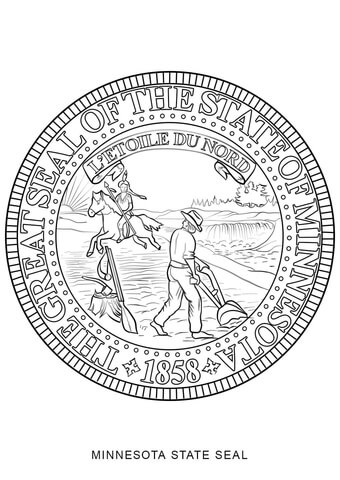 minnesota state seal coloring page