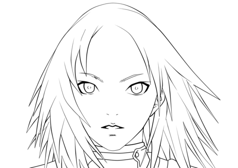 Miria from Claymore coloring page