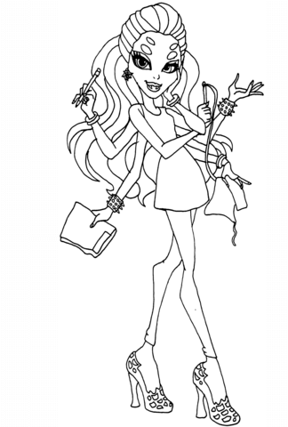 Monster High Wydowna Spider coloring page