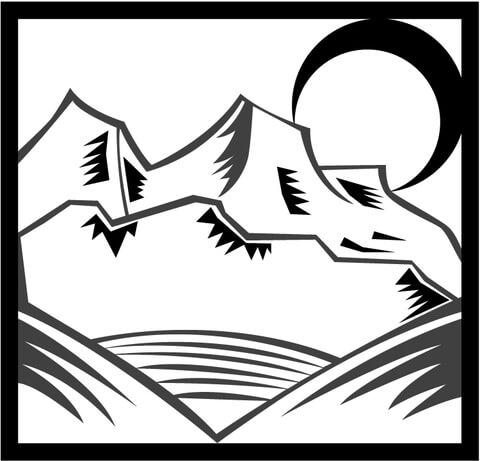 Moon Shining on the Mountains coloring page
