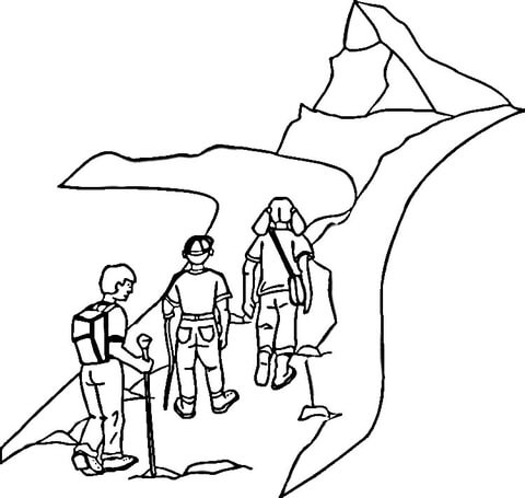 hiking boot coloring page mountain hiking coloring page