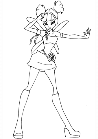 Musa Charmix coloring page