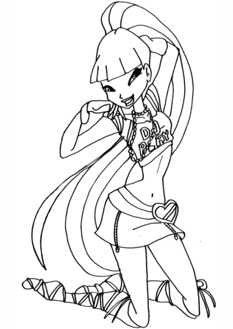 Musa Disco coloring page