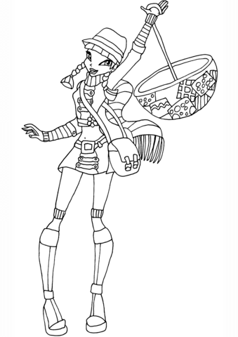 Musa Raincoat coloring page