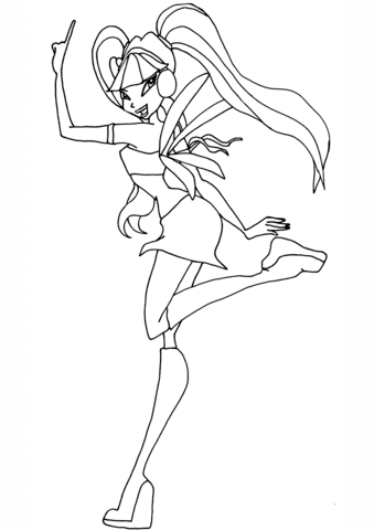 Musa Winx coloring page