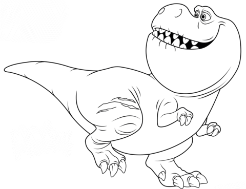 nash from the good dinosaur coloring page