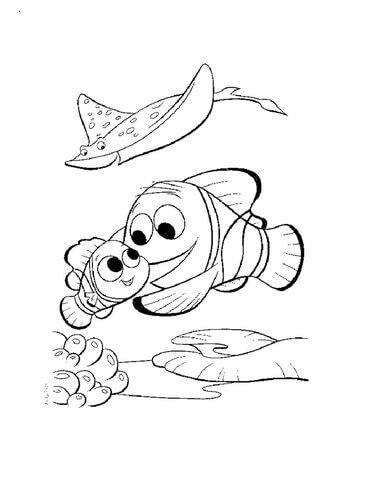 Nemo In The Aquarium coloring page - Free Printable Coloring Pages