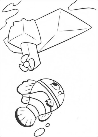 Nemo Finds The Boat  coloring page